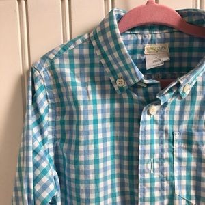 J Crew Crewcuts Button Front Checked Shirt